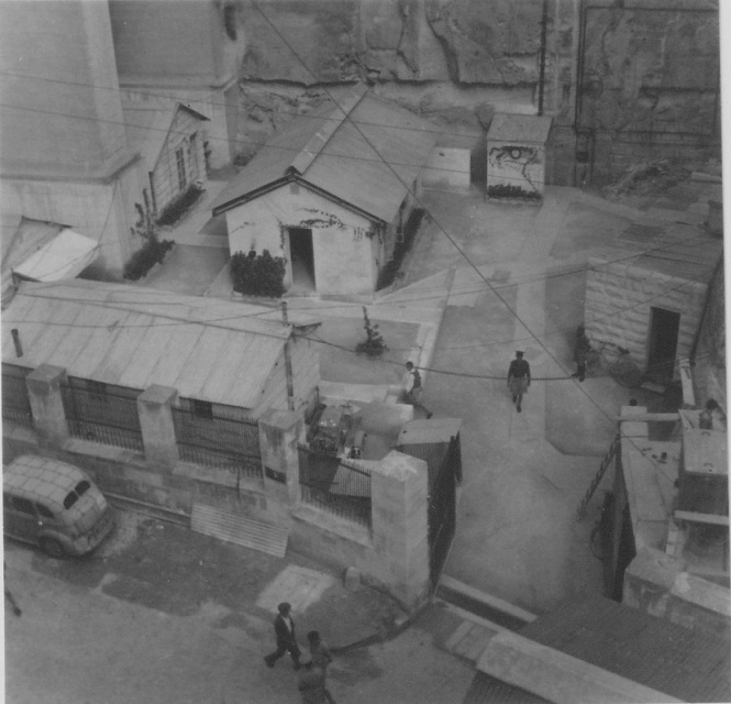 Aerial shot showing gated entrance into the Lascaris War Rooms